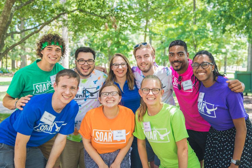 Summer Orientation, Advising & Registration (SOAR)  leaders at Regent University, Virginia Beach.