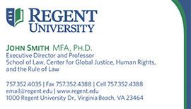 Regent university purchasing department stationery and business two line title with three phone numbers colourmoves