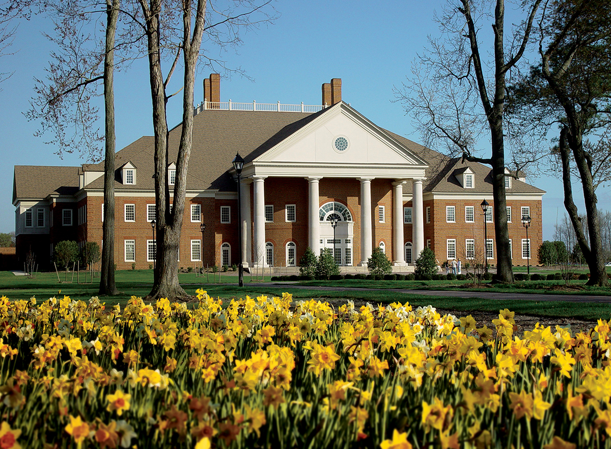 The Communication & Performing Arts Center of Regent University, Virginia Beach, houses the School of Communication & the Arts and the campus theater.