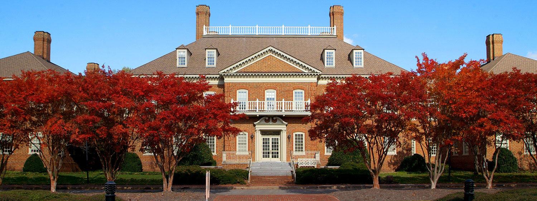 Fall colors at Regent University, Virginia Beach.