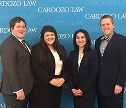 Price Media Law Moot Court Team. Photo courtesy of Christy Hurst.