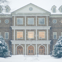 Snow on the Regent University campus.