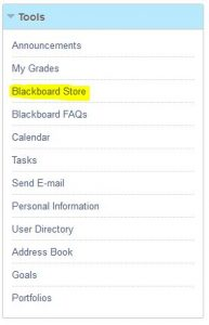"Regent University students can use the ""Blackboard Store"" to order books online."