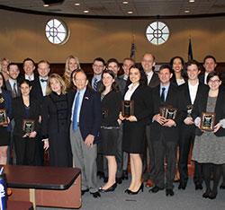 Regent University School of Law's Ronald L. Fick Book Award recipients.