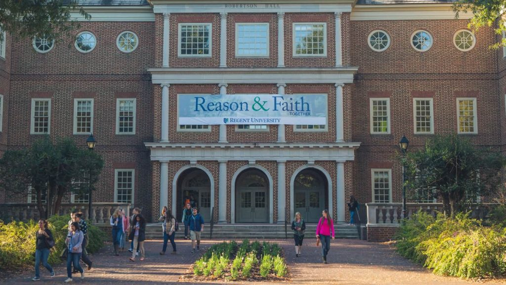 Regent University, Virginia Beach, offers a range of on-campus and online degrees.