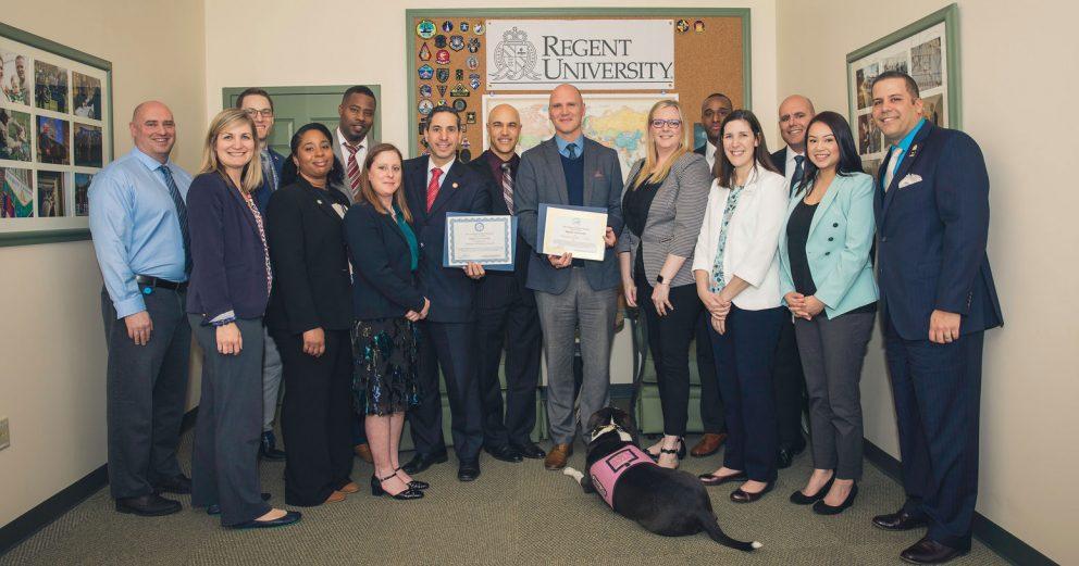 Virginia Department of Veteran Services representatives visited Regent University, Virginia Beach.