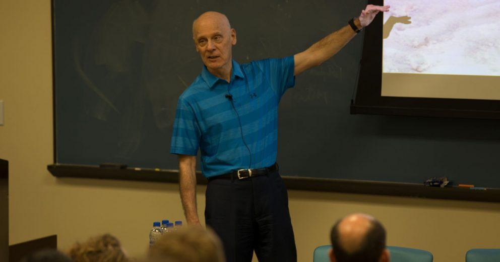 Dr. Hugh Ross spoke about God's provisional timing to Regent University students.