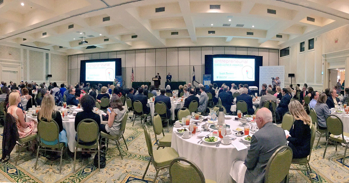 The annual Entrepreneurial Excellence Awards hosted by Regent University and Inside Business.