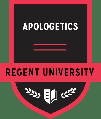 The Apologetics badge of Regent University.