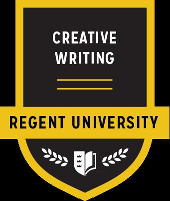 The Creative Writing badge of Regent University.