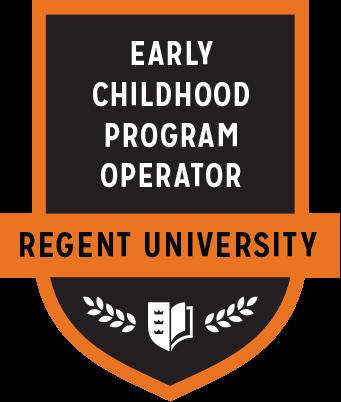 The Early Childhood Program Operator badge of Regent University.