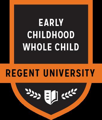 The Early Childhood Whole Child badge of Regent University.