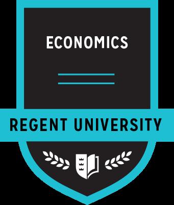 The Economics badge of Regent University.