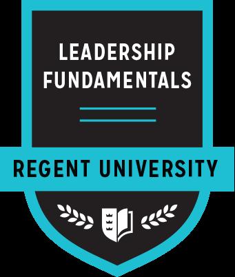 The Leadership Fundamentals badge of Regent University.