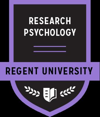 The Research Psychology badge of Regent University.