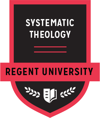 The Systematic Theology badge of Regent University.