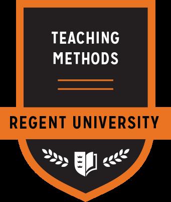 The Teaching Methods badge of Regent University.
