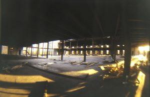 The Regent University library under construction.