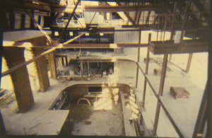 Regent University Library's lobby under construction.