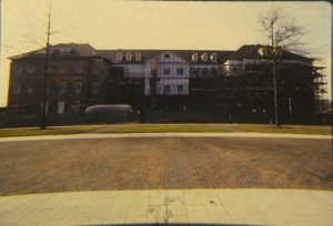 An old photograph of Regent University's Robertson Hall.