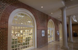 The Regent University Library's first-floor entrance.