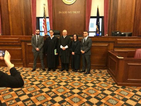 Regent law school's team claimed victory in the moot court competition.