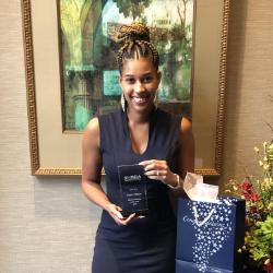 Regent's law school student Regina Williams received SHRBA's Student Member of the Year Award.