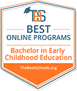 Regent University Ranked #12 in the Top 40 Best Online Bachelor's in Early Childhood Education Degree Programs | TheBestSchools.org, 2019.
