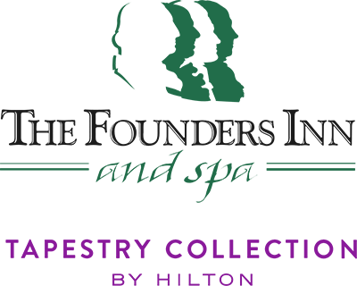 The logo of The Founders Inn and Spa.