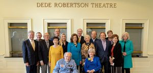 Regent University held a special dedication ceremony for its theatre renamed in honor of Dede Robertson.