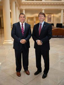 Assoc. Professor Brad Lingo & Dean Mark Martin, Regent Law