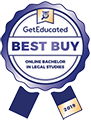 Regent University ranked #8 of the top 10 most affordable online bachelor's in legal studies | GetEducated.com