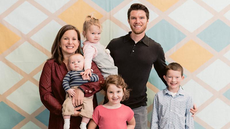 Regent University alumnus Ryan Holloway with his beautiful family. - Image courtesy, Ryan Holloway.