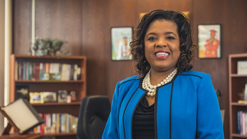 Regent University alumnus Sharon Byrdsong is the Superintendent of Schools for Norfolk Public Schools in Norfolk, Virginia.