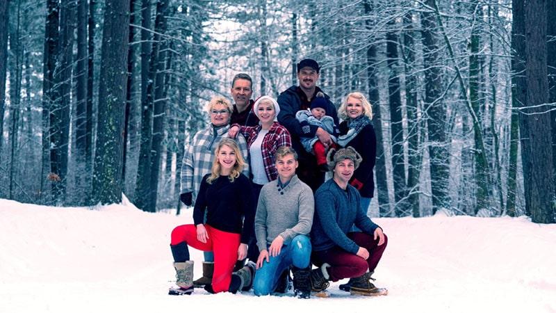 Regent University student Kandi Puder's family.