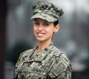 Regent University student Natasha Moore is preparing to be a commissioned officer in the military.