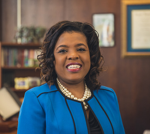 Regent University alumnus Sharon Byrdsong, Superintendent of Schools for Norfolk Public Schools in Norfolk, Virginia.