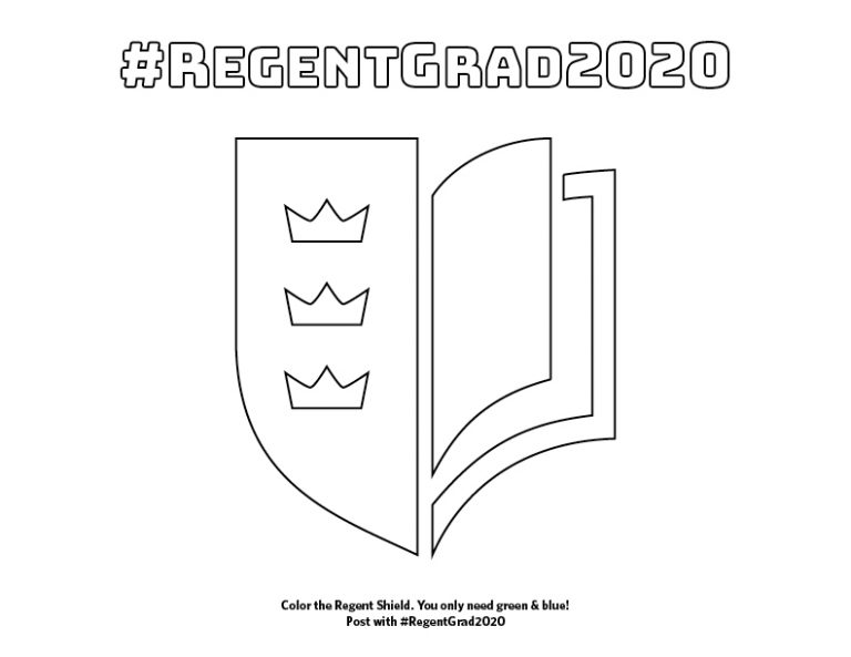 The Regent Shield, a PDF of which can be downloaded for #RegentGrad2020 celebrations.