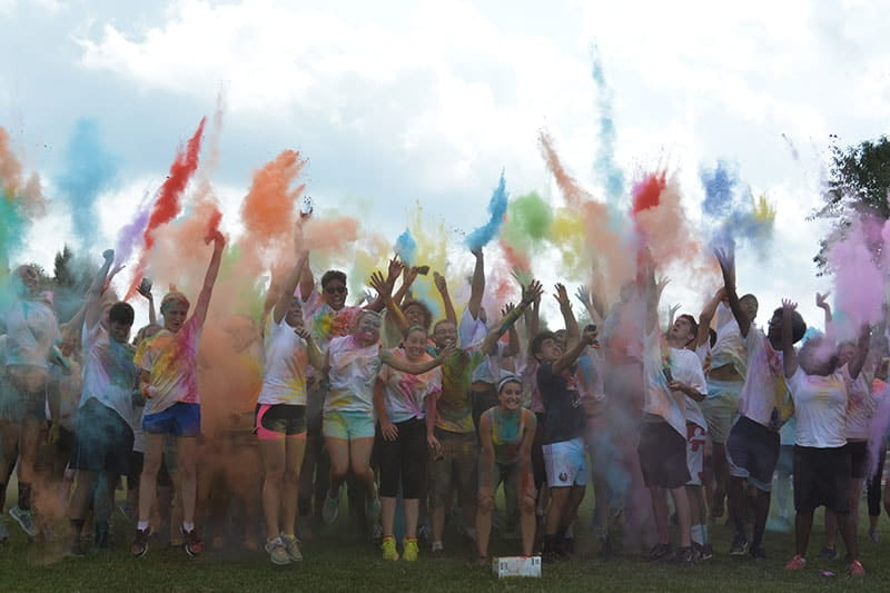Student life at Regent University includes exciting events like the Color Run.
