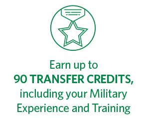 Earn up to 90 transfer credits, including your military experience and training, at Regent University, Virginia Beach.