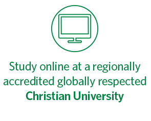 Study online at a regionally accredited globally respected Christian University, Regent University, Virginia Beach.