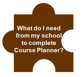 What do I need for my school to complete Course Planner?