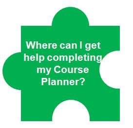 Where can I get help completing my Course Planner?