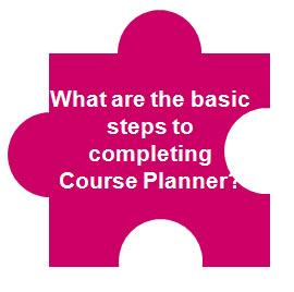 What are the basic steps to completing Course Planner?