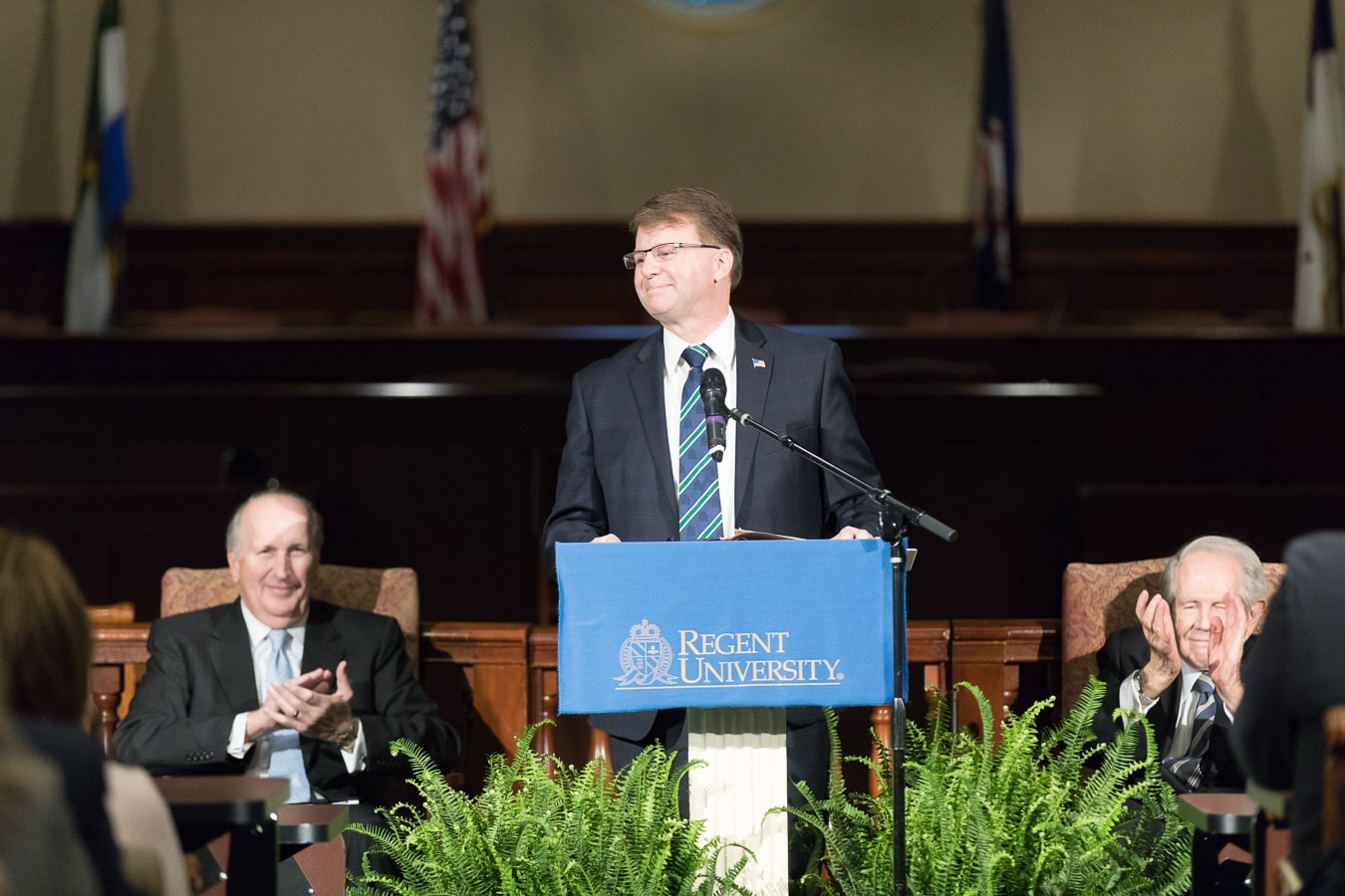 The Honorable Mark Martin at his installation service as Regent University School of Law's new dean.