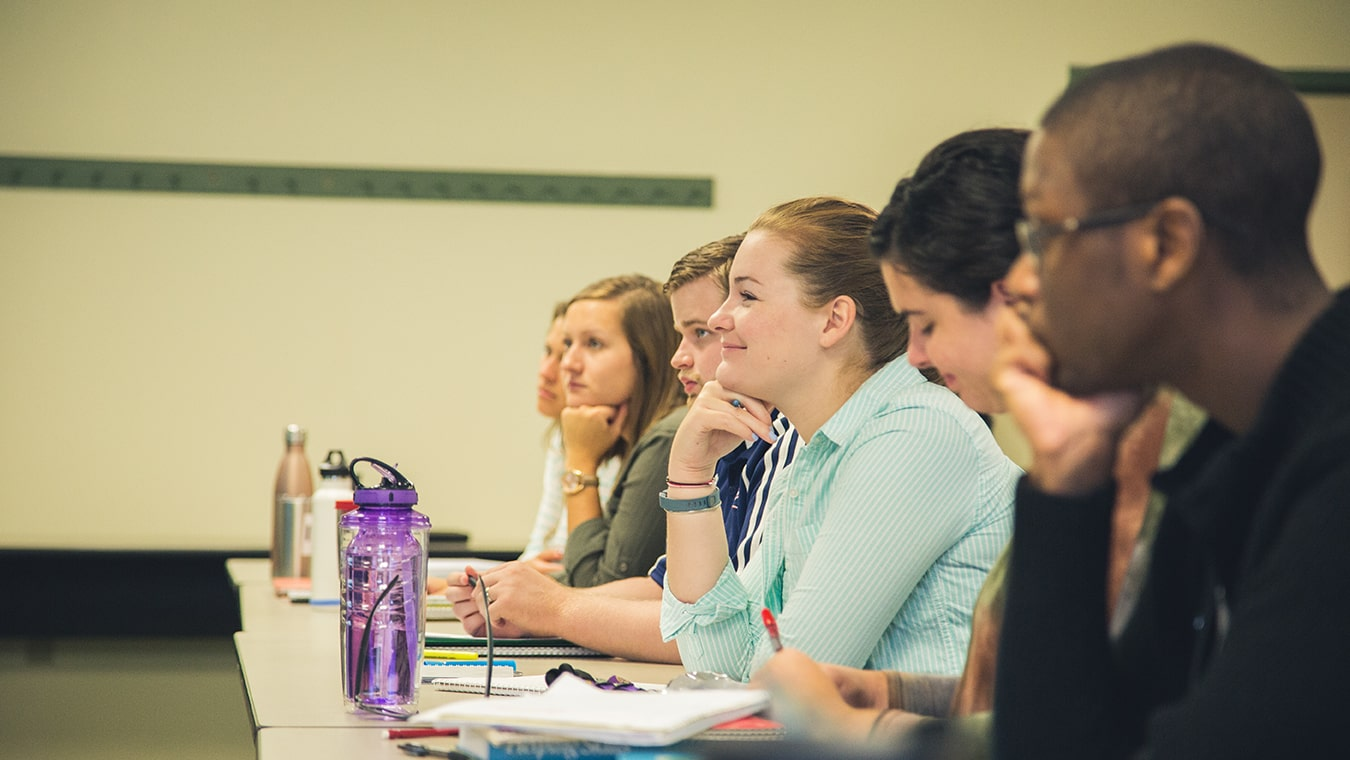 Students attend a class at Regent, one of few Christian institutions that offer both APA and CACREP-accredited programs.
