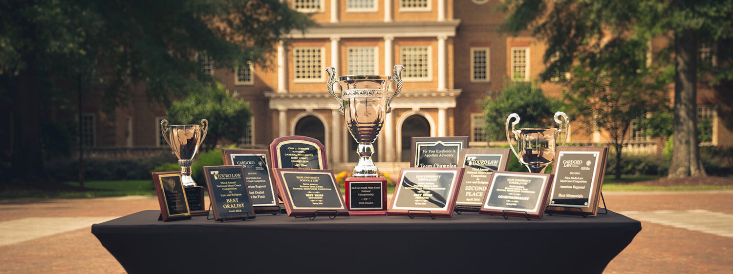Regent University School of Law's Center for Advocacy has trained teams that won more than 60 championships, best oralist and best brief awards.