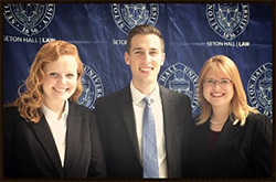 Regent University School of Law's J. Gibbons Moot Court Team. Photo courtesy of Regent's School of Law Official Facebook Page.