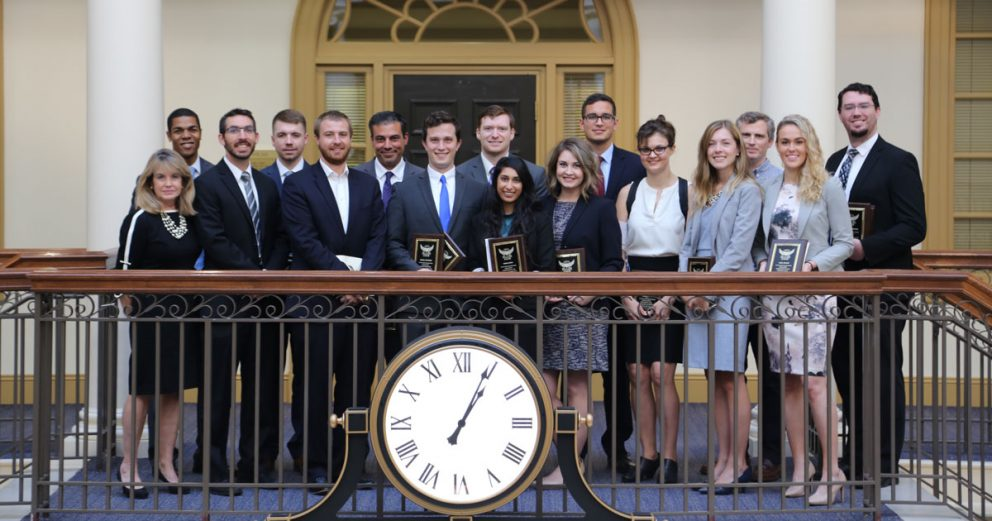 Regent University School of Law students who received the highest grades were recognized at the Ronald L. Fick Book Award Ceremony.