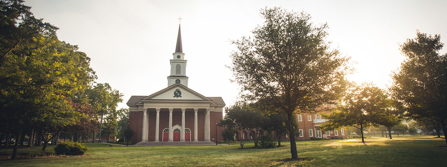 The Regent University chapel, which is located next to its Divinity Building.
